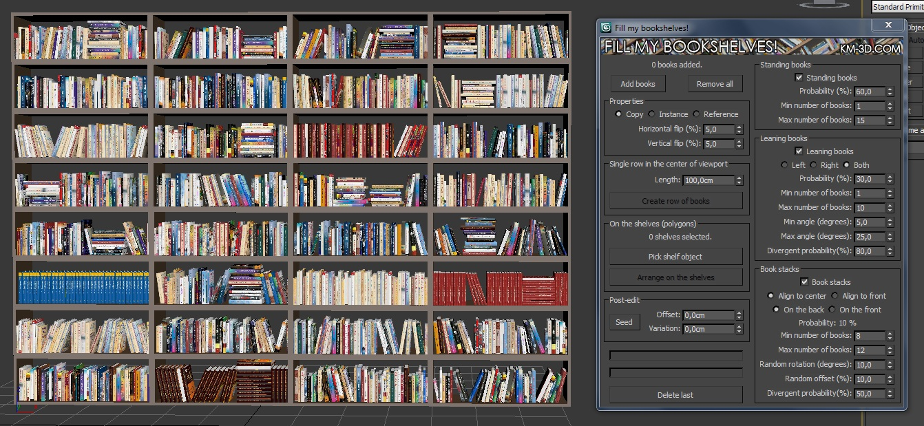 Book Cover Texture Ds Max : Fill my bookshelves scriptspot