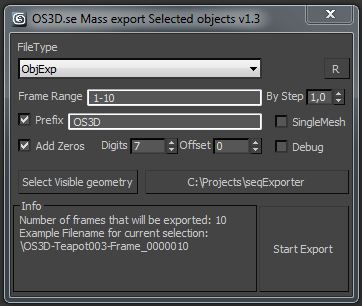 Mass exporting of selected objects in 3dsmax | ScriptSpot