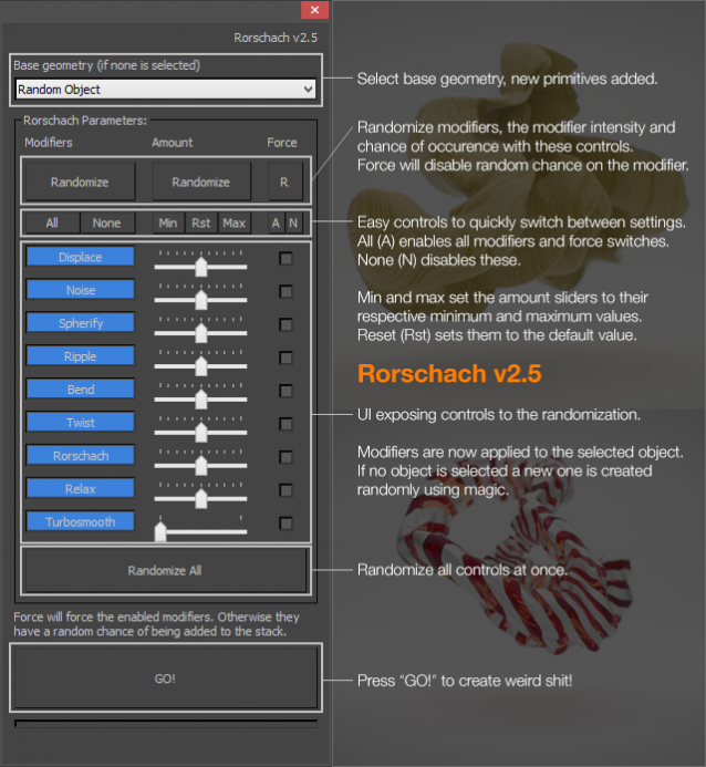 Rorschach 2.5 Interface