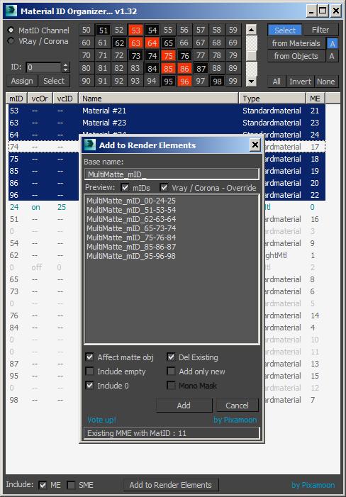 Material ID Organizer | ScriptSpot