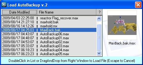 Load AutoBackup File